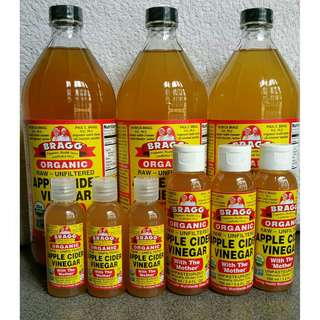TERMURAH! Bragg apple cider vinegar (share in bottle)