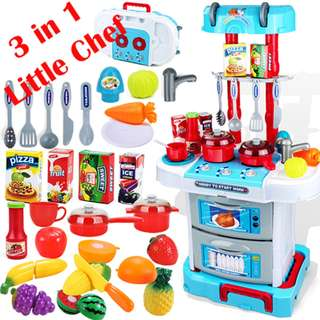 Little Chef Small Gourmet 43Pcs Light&Sound Suitcase Kitchen