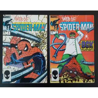 Web of Spider-Man #4 & 5 (1985 1st Series)-Set Of 2, Spider-Man vs. Doctor Octopus battle!