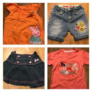 Branded Girl Clothes Bundle, 1-3 years old