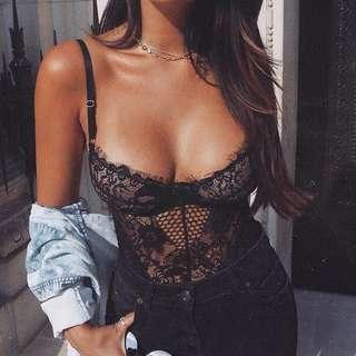 MESHKI VALERIE lace bodysuit