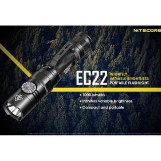 Nitecore EC22 XP-L HD V6 1,000 Lumens Infinite Rotary Switch Flashlight
