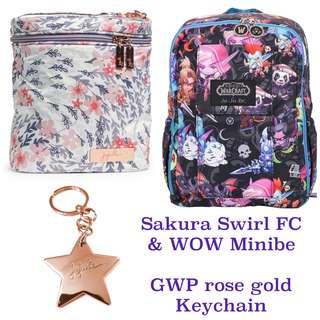 Ju-Ju-Be Rose Gold Sakura Swirl Fuel Cell & Blizzard WOW Cute but Deadly Minibe bundle