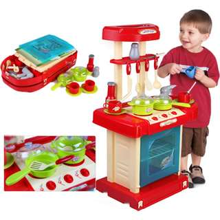High Quality Kitchen Playset Toy-Light+Sound Carry Case