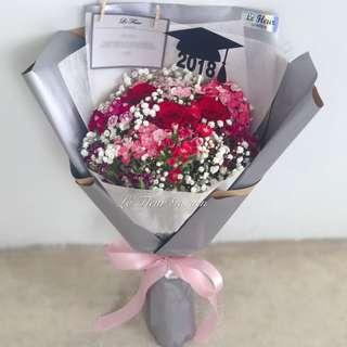 Rosy Bubbles - graduation bouquet