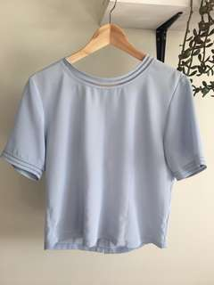 Vintage size 10 silk feel top
