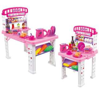 Deluxe Kitchen Breakfast Preparation Snack Bar PlaySet