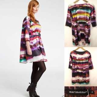34 Marimekko water colors dress loose style