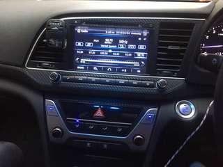 Hyundai Elentra AD interior carbon fiber sticker