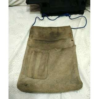 二手阿公留下來日本早期電器工木工工具袋腰袋古早收藏