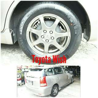 Tyre 195/65 R15 Membat on Toyota Wish 🐕 Super Offer 🙋‍♂️