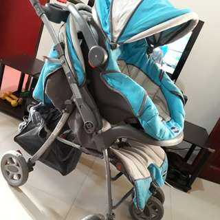 Preloved Enfant Stroller with car seat