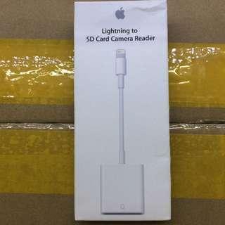 原裝apple lightning to sd card camera reader相機讀卡器