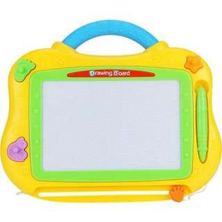 KIDDY STAR COLOR MAGNETIC DRAWING BOARD - Yellow