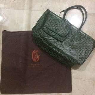 Goyard medium shopping bag