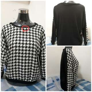 Patterned 3/4 Blouse
