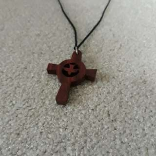 Exotic Hand-Crafted Wooden Dove Pendant from Jerusalem, Israel