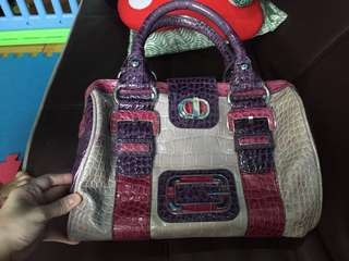 Authentic GUESS Snakeskin bag