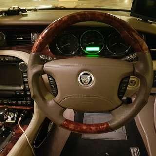 Sport package wood steering wheel for Jaguar