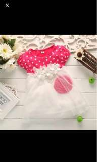 The baby princess skirt dress skirt short sleeved vest