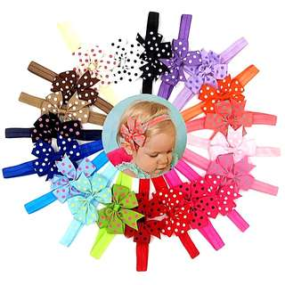 (Set B12) Headbands Hair Bows Hair Clips Hair Accessories Set