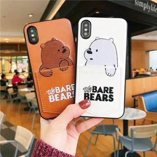 PO: 📱We Bare Bears Faux Leather Soft Phone Case