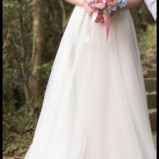 新娘輕婚紗白色 pre wedding