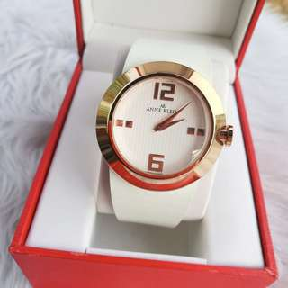 Anne Klein White Band Watch