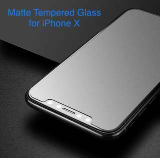 Matte Tempered Glass Screen Protector (iPhone 7/7+/8/8+/X)