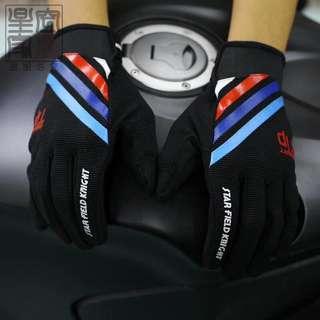 骑行手套全指薄款高弹力触屏运动登山防滑耐磨手套透气