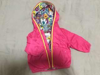 CHICCO water/windproof coat, never worn, brand new. It says for 3 months but I bought it for my 8 months baby girl but it turned out to be too small for her.