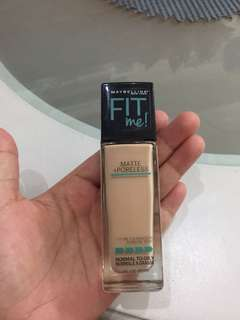 Maybellene fit me foundation 10% used