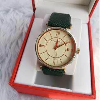 Anne Klein Green Band Watch