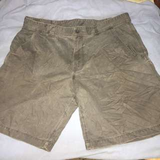 NORTH FACE gray plus size men walking shorts W38