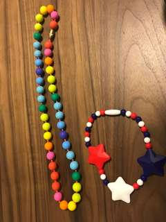 Baby silicone teething necklace