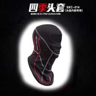 正版品牌摩托车长款头盔头套 防晒 防尘 吸湿排汗 SKM014