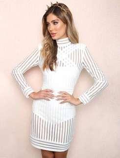 Tigermist White Dress - XS