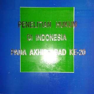 PENELITIAN HUKUM DI INDONESIA PADA AKHIR ABAD KE - 21   Prof. Dr. C.F.G. Sunaryati Hartono, S.H.   Alumni  ORIGINAL