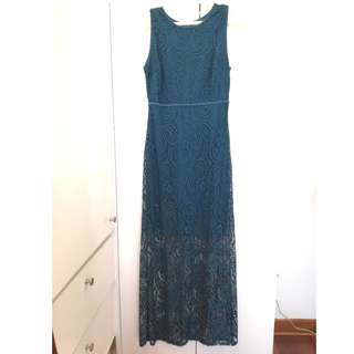 IMPORTED LONG LACE DRESS