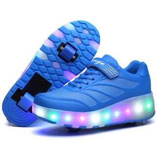 [NEW ] [ PO] !!! PROMOTION MONTH OF APRIL 2018  !! FOR THIS AWESOME PRETTY COOL LED ROLLER SHOES TWO WHEELS !! COME WITH ADULT AND KIDS SIZE !!  CAN BRING IT EVERYWHERE  !! BE THE FIRST TO GET NOW !!!!!
