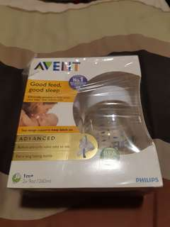 Avent milk bottle baby
