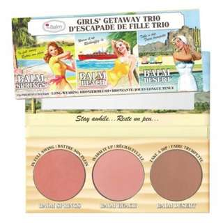 [ORI] The Balm Girls Getaway Trio Long-Wearing Blush/Bronzer