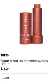 Fresh Sugar Coral Tinted Lip Treatment