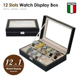 FREE POS Ready Stock Watch Display 12 Slots Pillow Holder Case Storage Box