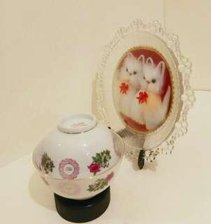 70年代,中國醴陵碗大小各一 (大:闊4.5吋 ,小闊:4吋)
