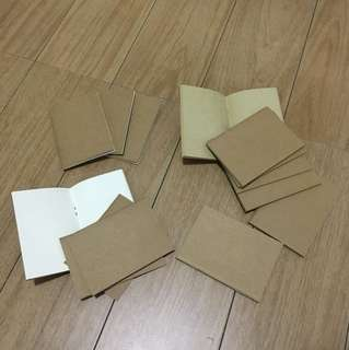 Blank notebook refills
