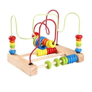 Wooden Bead Maze Beads Roller Coaster
