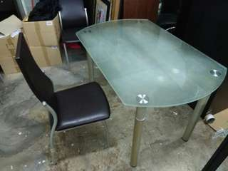 Dining table without chair.
