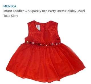 BNWT Muñeca Sparkly Red Party Dress