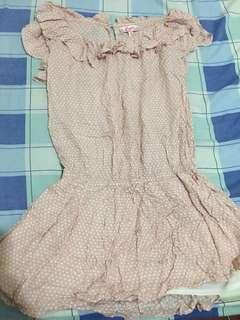 Nude Polka dot Dress